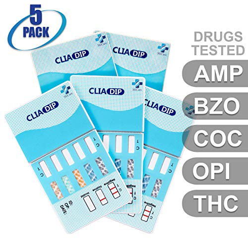 Great Features Of MiCare [5pk] - 5-Panel Urine Drug Test Card (AMP/BZO/COC/OPI/THC) #MI-WDOA-754