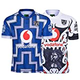 JUNBABY 2020 Warriors Maillot De Rugby, Maillots ComméMoratifs, T-Shirt De Rugby pour Homme-White-M