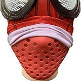 シェルマスク サバゲーマスク フェイスガード スポーツ ロードバイク シリコンマスク アンダーマスク シリコンマスクスパイダーマン 仮装 コスプレ 鼻マスククッション(レッド)