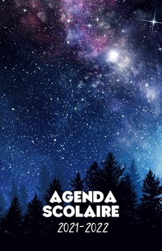 Agenda scolaire 2021-2022 motif ciel étoilé: Un sublime agenda journalier pour élémentaire, collège, lycée