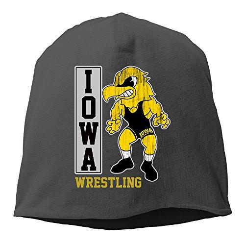 University of Iowa UI Iowa Hawkeyes Wrestling Beanies Cap Black