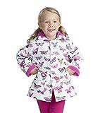 Hatley Printed Raincoats, Chaqueta Impermeable Para Niñas, Morado (Wintery Blooms),...