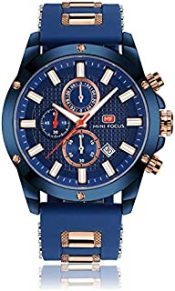 Mini Focus Mens Quartz Watch, Chronograph Display and Silicone Strap - MF0089G.04