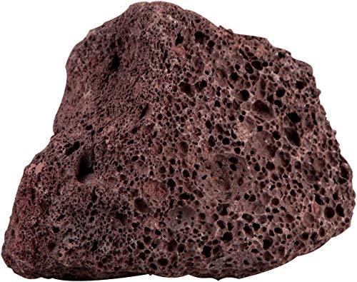 sera 32356 Rock Red Lava S/M (Stück von 8 bis 15 cm) Lavagestein bzw. Vulkangestein - Naturstein Deko fürs Aquarium