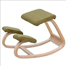 Original Kneeling Chair-Ergonomic KneelingDesigned/Rocking Posture Correcting Wooden Stool/Back Support,Rocking Kneel Seat...