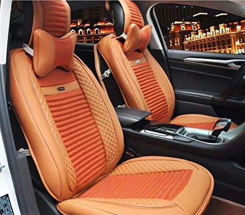 AMYMGLL 3D tout compris Coussin de voiture Set Linen Deluxe Edition (de 11Réglez) Pad Universal Car Cover Four Seasons Universal 4 Couleurs options , 1