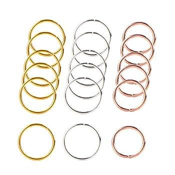 90 Pieces Braid Rings Hair Hoops Braid Hair Clip Accessories 3 Colors 2 Sizes