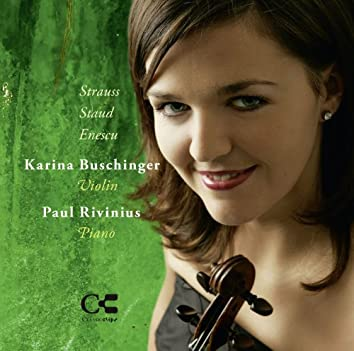 Strauss, Staud & Enescu: Music for Violin and Piano