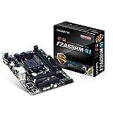 Gigabyte GA-F2A68HM-S1 - Placa Base (DIMM, DDR3-SDRAM, Dual, AMD, AMD A, Athlon, Socket FM2+) Color Negro