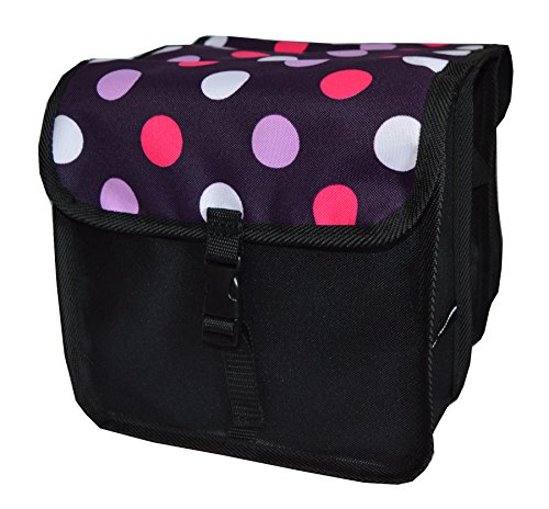 Beluko FAHRRADTASCHE Kinder Satteltasche Gepäckträgetasche Doppel 2 x 5l (7. Mini - Punkte)
