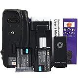 DSTE MB-D18 empuñadura de batería con función de control remoto por infrarrojos + 2 x EN-EL15 Batería para Nikon D850 Digital SLR Cámara