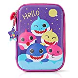 Baby Shark Pencil Case for Boys, 3D Cute EVA Shark Pen Pouch Stationery Box Anti-Shock Large Capacity Multi-Compartment for School Students Teens Kids Girls Boys