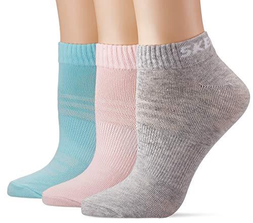 Skechers Socks Damen SK43022 Füßlinge, Türkis (Pastel Turquoise 6060), (Herstellergröße: 35/38) (3er Pack)