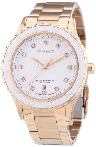 GANT W70534 - Reloj analógico de Cuarzo para Mujer, Correa de Acero Inoxidable Chapado Color Plateado