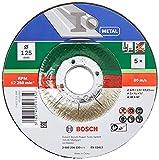 Bosch 5 discos de corte para metal (metal, 125 mm, accesorio para amoladoras)