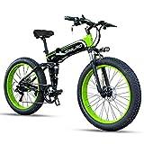 SMLRO Vélos électriques Pliant pour Adultes, 26' VTT électrique avec...