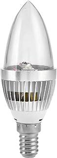 Raguso Bombillas LED Inteligentes para Velas, Multicolor E14/E12 3W RGB Bombilla LED para lámpara con Kit de Control Remoto para el hogar fácil de Usar(E14)