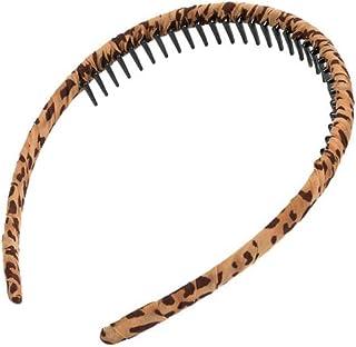 Multicolor Protection Resin Teeth Comb Hair Hoop Hairband #4