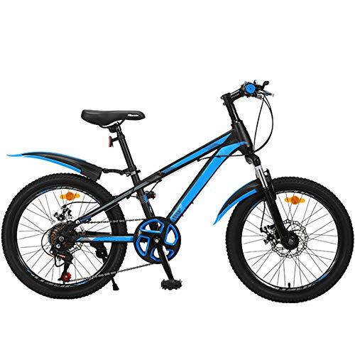 LFFME Bicicleta De Montaña para Niños con Ruedas De 20', 7 Velocidades, con Freno De Disco Doble Y Sillín Ajustable (De 7 A 12 Años),A