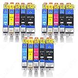 15 cartucce per stampante IBC per Canon PIXMA TS 5050 6051 6052 8050 8051 8052 9050 90515 XL