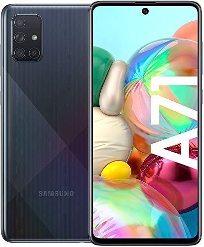 Samsung Galaxy A71 Smartphone Bundle (16,4cm (6,5 Zoll) 128 GB interner Speicher, 8 GB RAM, Dual SIM, Android inkl. 30 Monate Herstellergarantie, Black [Exklusiv bei Amazon] Deutsche Version