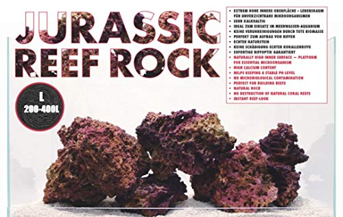 AQUADECOR Jurassic Reef-Rock L 25kg für 200-400L Riffaufbau Meerwasseraquarium