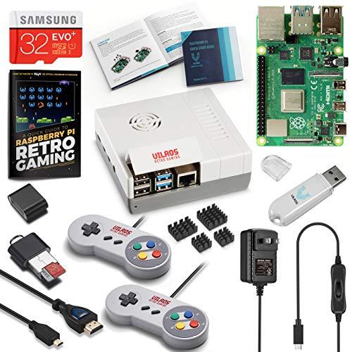 Vilros Raspberry Pi 4 Retro Gaming Kit con controladores estilo SNES y funda estilo NES, 8GB RAM