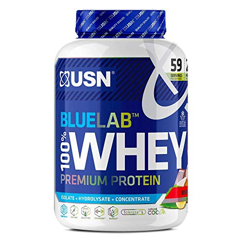USN Premium Whey Protein Powder: Blue Lab Whey Wheytella 2 kg, 100% Premium Post-Workout Protein Shakes With BCAAs and Tolerase
