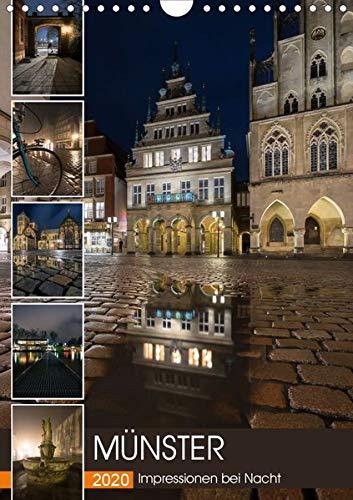Münster - Impressionen bei Nacht (Wandkalender 2020 DIN A4 hoch): Nachts unterwegs im wunderschönen verträumten Münster (Monatskalender, 14 Seiten ) (CALVENDO Orte)