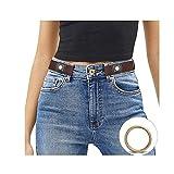 JasGood Schnallenfreier Damen Stretch Elastischer Gürtel für Damen Herren, Plus Size Keine Schnalle Unsichtbarer Gürtel für Jeans Hosen, Kaffee, Hosengröße 86cm-125cm