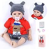 VUGO 20 Zoll 50cm Reborn Babypuppen Junge Silikon Ganzkörper Realistische handgemachte Neugeborene Reborn Babys Jungen Kleinkind Schlafpuppe Geschenke Spielzeug