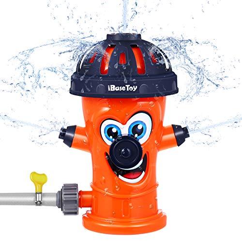 iBaseToy Sprinkler Kinder, Wassersprinkler im Hydrant Design, Wasserspielzeug Sprinkler für Kleinkinder Jungen Mädchen Sommer Outdoor Garten Party Haustiere…