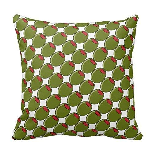 N\A Funda de Almohada Cuadrada Almohada de Aceitunas Verdes Funda de Almohada de algodón y poliéster Cojín