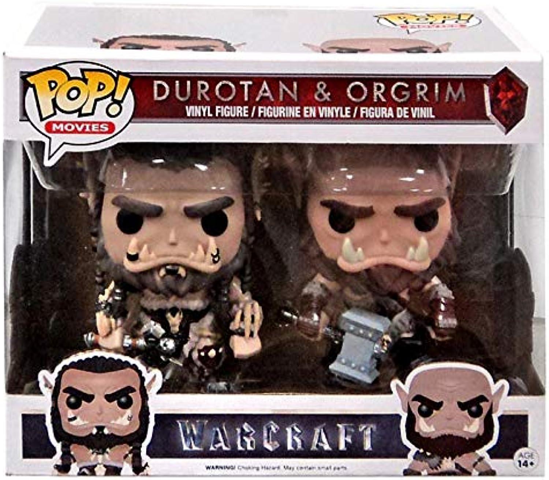Funko - Figurine World of Warcraft Movie - 2 Pack Duredan & Ogrim Exclu Pop 10cm - 0849803093150