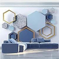 Iusasdz カスタム壁画壁紙モダン3Dステレオ抽象芸術幾何学的写真壁画リビングルーム寝室背景壁装材-150X120Cm