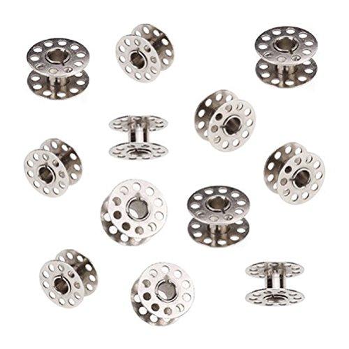 ULTNICE Metall Spulen Nähmaschine 20mm Durchmesser für Bruder Singer Toyota Janome 20pcs (Silber)