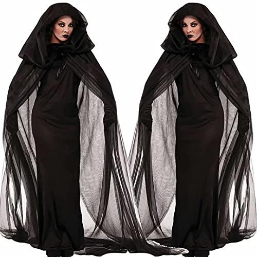Halloween Ghost Bride Witch, Ghost Bride Vampire Disfraces Negros Vestido de Malla...