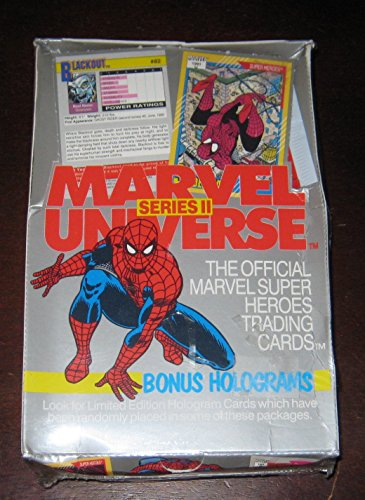 1991 Marvel Universe II Trading Card Box of 36 Packs NM/M Factory Sealed image