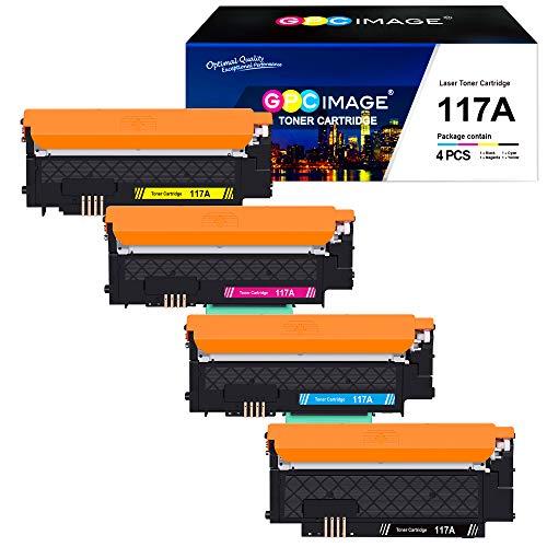 GPC Image 4er Pack 117A Kompatibel Toner Ersatz für HP 117A für HP Color Laser MFP-178nwg-179fwg-178nw-179fnw Color Laser 150a-150nw-150w (W2070A W2071A W2072A W2073A)