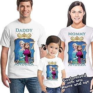 Frozen Birthday Shirt, Frozen Birthday Girl Shirt, Birthday Shirt Party Favor, Elsa, Anna, Princess Shirt