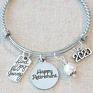 2020 RETIREMENT Gift Bangle Bracelet, Find Joy in the Journey Congratulations Gift, 2020 Retirement Bracelet, Happy Retirement Gifts for Women