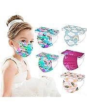 CHENGMU 50 Pezzi Bambini Protezione per Il Viso USA e Getta 3 Strati Antipolvere Tessuto Viso Cotone Antipolvere Visiera Bocca Faccia Adatto
