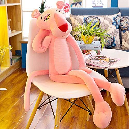 KMNHFGDB Plüsch Spielzeug Rot Leopard Puppe Pulver Sprung Tiger Tuch Rot Leopard Große Puppe Kissen Geschenk 60Cm C