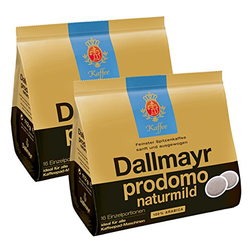 Dallmayr Prodomo Natur Mild Kaffeepads, für alle Pad Maschinen, Röstkaffee, Sanft, 32 Pads, á 7 g