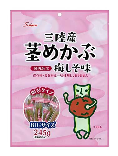 壮関 三陸産茎めかぶ梅しそ味BIGサイズ 245g