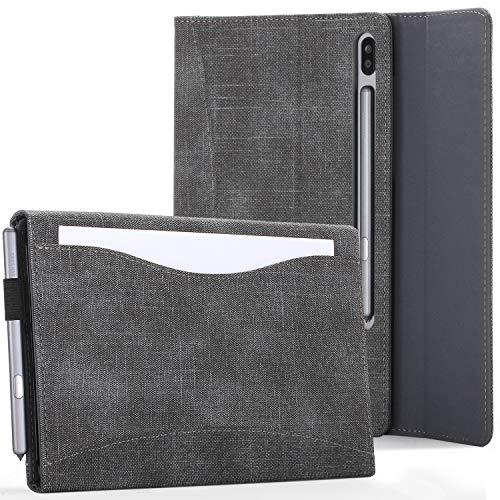 FC Cover per Samsung Galaxy Tab S6 10.5 - Nero – Samsung Galaxy Tab S6 Custodia Supporto, Portafoglio Cover con Porta Documenti – Compatibile: S-Pen, Ricarica Wireless, Auto Sleep Wake