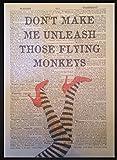 """Kunstdruck """"Flying Monkeys"""", Zitat aus Der Zauberer von"""