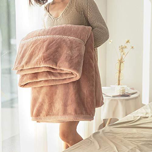 Manta Reversible Manta De Sofá Manta De Microfibra Manta suave y cálida, exquisita manta cómoda Manta de lujo Microfibra Fleece Manta Todas las temporadas ( Color : Pink , Size : 200*180 )