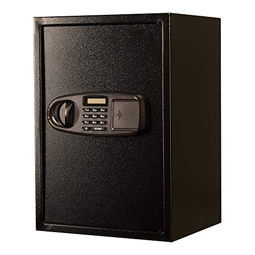 QinWenYan Caja Fuerte Box Digital Home Teclado Safe Acero Caja de Seguridad Protect joyería pasaportes de Seguridad for Office Home Cajas Fuertes de Armario (Color : Black, Size : 50x35x30cm)