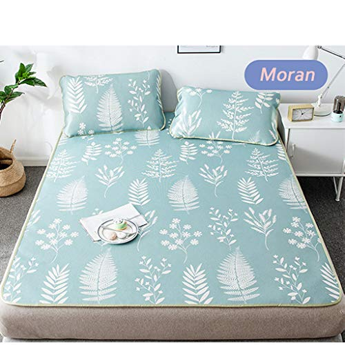 CPPI-1 Ice Silk Mat, Moran,1.8m 1.5m Summer Mat for Children, for Student Mat, Foldable, Orlando,washable Contains a Pillowcase